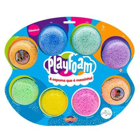 Massinha de Modelar Foam Playfoam Jumbo com 8 cores - Toyng