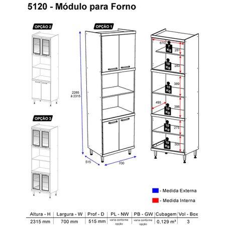 Paneleiro Multimóveis Sicília para forno e micro 5120 Argila