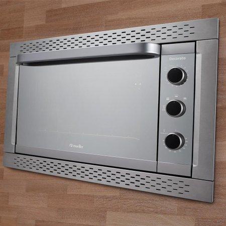 Forno Elétrico de Embutir Decorato Inox 44 Litros 220V