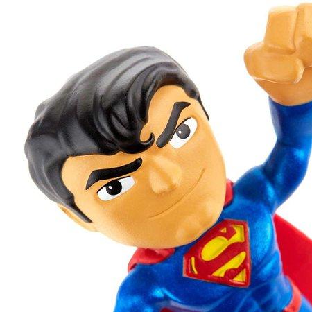 Super Man Flexível 10 cm DC Liga da Justiça - Mattel