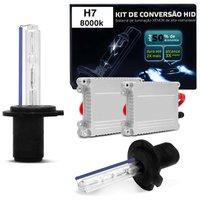 Kit Xênon Completo H7 8000K 12V Tonalidade Azulada Reator Anti Flicker