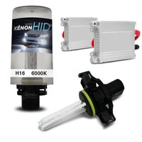 Kit Xênon Completo H16 6000K 35W 12V Lâmpada Extremamente Branca e Reator Função Anti Flicker