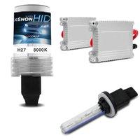 Kit Xênon Completo H27 881 8000K 35W 12V Lâmpada Tonalidade Azulada e Reator Função Anti Flicker