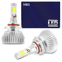 Kit Lâmpada Super LED 2D Headlight HB3 6000K 12V 24V 35W 6400LM Efeito Xênon carro moto caminhão