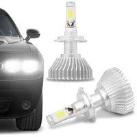 Kit Lâmpada Super LED 2D Headlight H7 6000K 12V 6400LM Efeito Xênon Carro Moto Caminhão