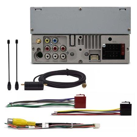 Central Multimídia Pósitron SP8730 DTV 2 Din 6.2 Pol Touch Espelhamento Bluetooth TV USB CD DVD MP3