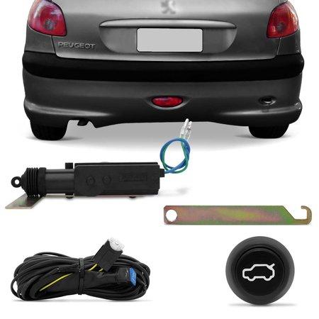 Kit Abertura de Porta Malas Peugeot 206 99 a 08 4 Portas Abre no Botão e Alarme