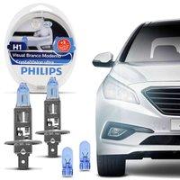 Kit Lâmpada Philips Super Branca Crystal Vision Ultra H1 4300K 55W Efeito Xênon + Par Pingo