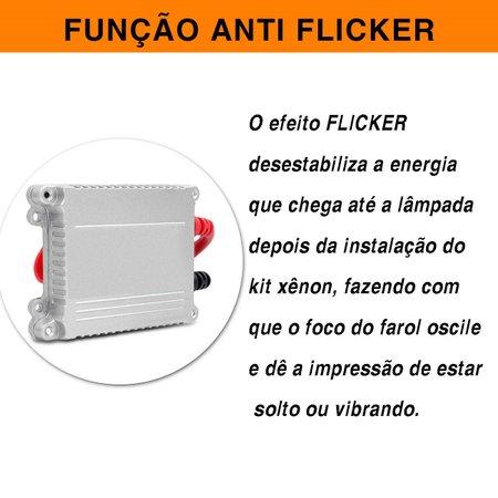 Kit Xênon Completo HB4 6000K Farol Milha Saveiro G6 G7 13 A 18 Tonalidade Branca Reator Anti Flicker