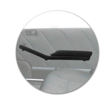 Apoio de Braço Moldura Botão Vidro Elétrico Dianteira Uno Mille 1985 a 2014 Preta 2 4 Portas