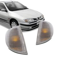 Lanterna Dianteira Pisca Renault Scenic Megane 1996 1997 1998 1999 Cristal Cúpula Âmbar