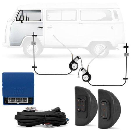 Kit Vidro Elétrico Volkswagen Kombi 1957 A 2013 Dianteiro Sensorizado