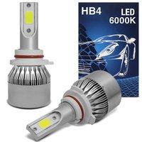Kit Lâmpada Super LED 7200 Lúmens HB4 9006 6000K 12V 24V Efeito Xênon Caminhão
