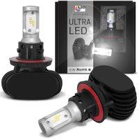 Par Lâmpadas Ultra LED H13 6000K 12V 50W 8000LM Efeito Xênon Aplicação Farol Carro com Reator