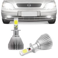Kit Lâmpadas Super LED Headlight Astra 1998 1999 2000 2001 2002 Farol de Milha H3 6000K Efeito Xênon