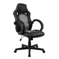 Cadeira Presidente Gamer Pel-3002 Sintético Preta/Cinza Pel