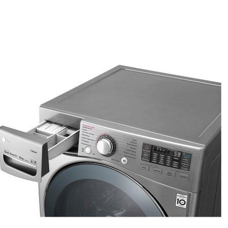 Lavadora e Secadora LG New Titan 17Kg + 2,5Kg Com TrueSteam Aço Escovado 110V WD17VVS6