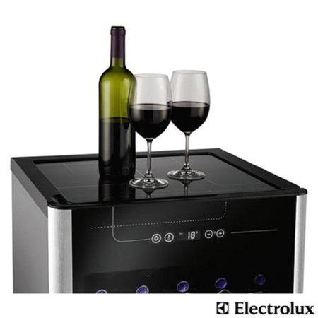 Adega Electrolux 24 Garrafas ACS24 Preto e Inox  01241WBA189