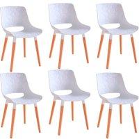 Kit 6 Cadeiras Decorativas Para Salas e Cozinhas LivClean (PP) Branco - Gran Belo