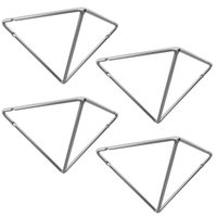 Kit 4 Mãos Francesas Pequenas Triangulares Suportes Aramados Estilo Industrial Cromado