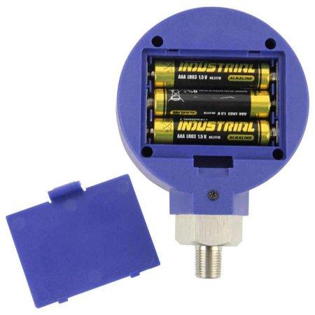Manômetro Digital Baixa Pressão 0 a 500psi Pilha Alcalina AAA (1,5v) Elitech
