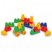 Brinquedo Educativo Caixa Blocos de Montar Blocolândia 19pcs