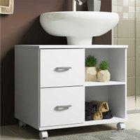 Gabinete Banheiro c/ recorte p/ pia e 2 gavetas Ice Multimóveis - Branco