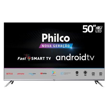 "Smart TV Philco 50"" Android PTV50G71AGBLS 4K LED - Google Play"