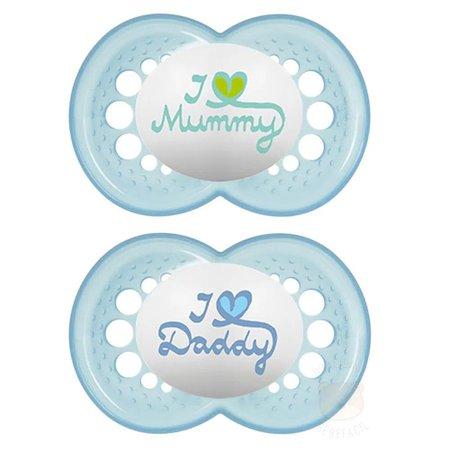Chupeta Mom e Dad Azul Claro Boys - 2933