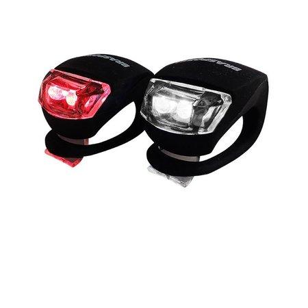 Lanterna Led Bike Kit Com 2 Peças 4CR 2032 Incluso Brasfort
