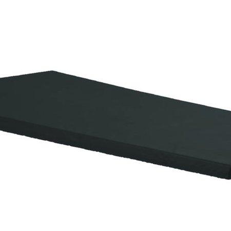 Colchonete Ideal Para Pilates, Rpg E Yoga - 170 x 60 x 2 cm  Orthovida-Preto