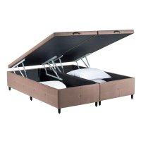 Box Bipartido King com Baú Fit-Sono Design - Marrom