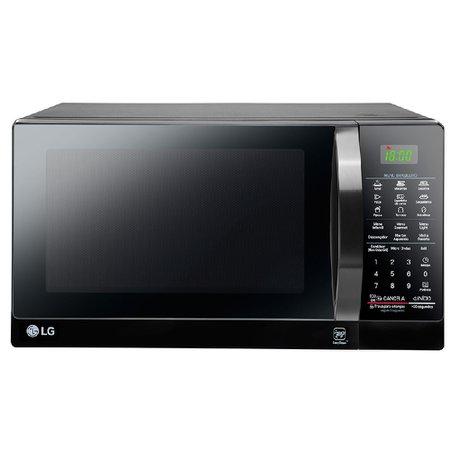 Forno Micro-ondas LG Com Grill Revestimento EasyClean™ Preto 30 Litros 220V MH7097ARA