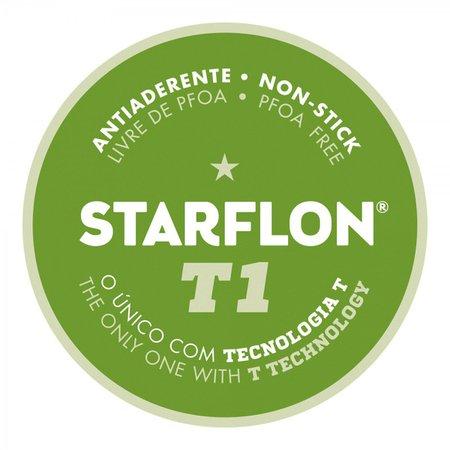 Frigideira Reta Tramontina Paris Alumínio Antiaderente Starflon T1 e Espátula Vermelho 22 cm 1,7 L Tramontina