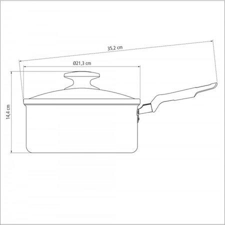 Panela Tramontina Loreto Alumínio Revestimento Antiaderente Starflon 20 cm 2,8 L Grafite Tramontina