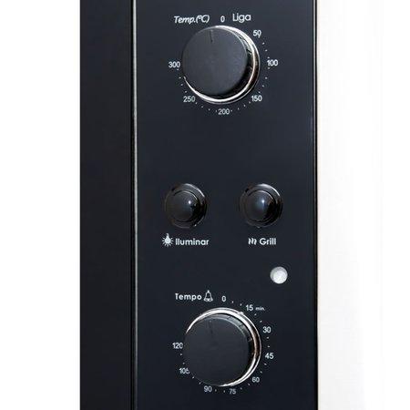 Forno Elétrico de Embutir Nardelli N450 Black 45L 110V 10012241