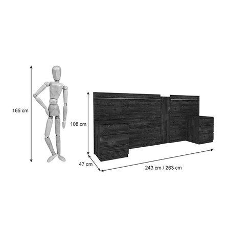 Cabeceira Extensível para Cama Box Casal/Queen Veronna Tcil