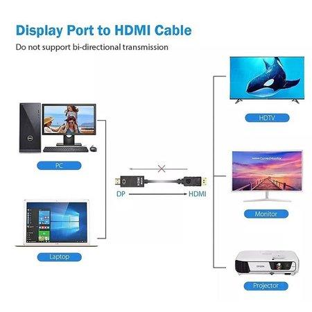 Cabo Conversor Adaptador Displayport para HDMI 1.8 metros Preto CB-DMI18