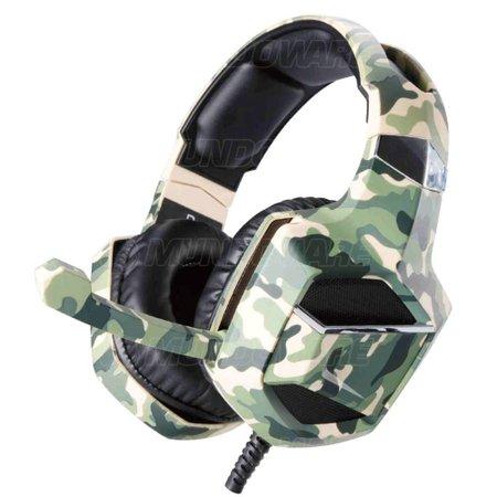 Headphone Gamer Camuflado 7.1 Surround Drive Stereo Super Bass p/ PS4 PC Celular XSoldado GH-X2700