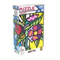 Puzzle 500 peças Flower Romero Britto