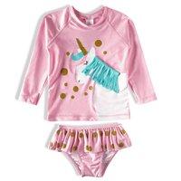 Conjunto Praia Manga Longa Baby Tip Top Rosa Claro V21 1445147 - rosa claro - 6-12M