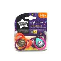 Kit 2 Chupetas Night Time 6-18M - Laranja/Roxo Tommee Tippee