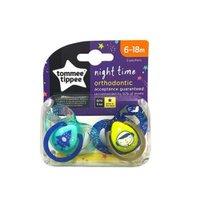 Kit 2 Chupetas Night Time 6-18M - Verde/Azul - Tommee Tippee