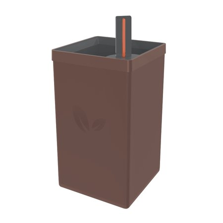Vaso Autoirrigável Tramontina em Polipropileno Café 0,6 L