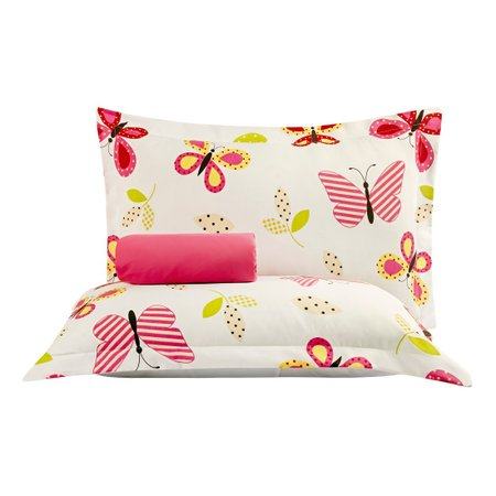 Jogo de Cama Butterfly Pink Queen 03 Peças - Percal 140 Fios
