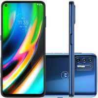 Celular Motorola Moto G9 Plus Azul 128GB Tela 6.8 Camera 64MP + 8MP + 2MP + 2MP