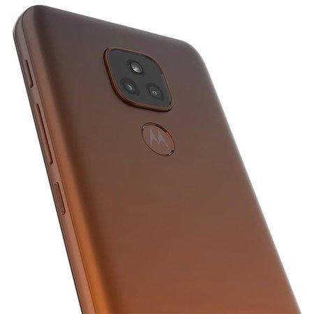 Celular Motorola Moto E7 Plus Bronze Ambar 64GB Tela 6.5 4GB Cam Dupla 48MP 2MP