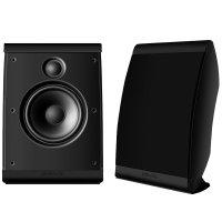 Polk Audio OWM3 - Par de caixas acústicas para Home Theater ultra-versátil Preto