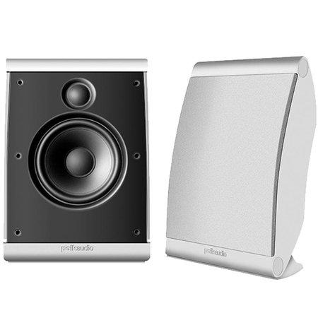 Polk Audio OWM3 - Par de caixas acústicas para Home Theater ultra-versátil Branco