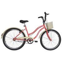 Bicicleta Retro Vintage Aro 26 Feminina Beach Salmão